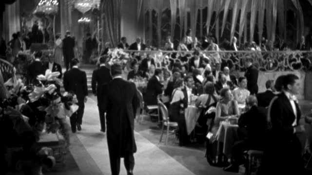 couples in formal wear dine in an elegant nightclub. - 1935 stock videos & royalty-free footage