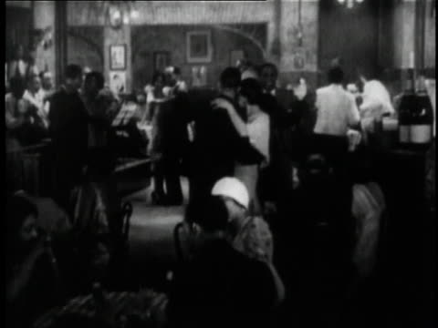 1929 HA couples slow dancing at a club in the short film St. Louis Blues / New York City, New York, United States