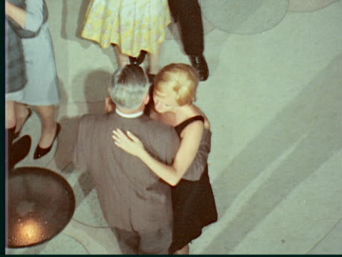 1966 montage couples slow dancing on dance floor / hamilton, bermuda - the past stock videos & royalty-free footage