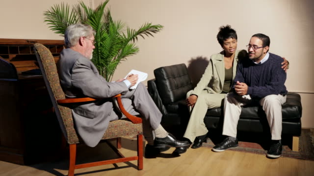couples therapy - psychiatrist's couch stock videos and b-roll footage