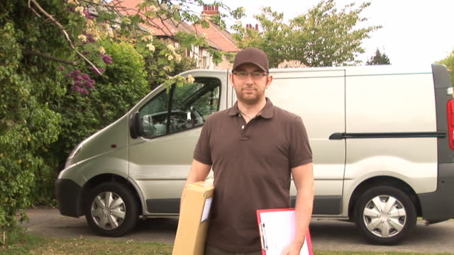 Courier / Delivery man standing - DOLLY