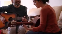 Course at home learning to play an instrument. Music concept lifestyle.