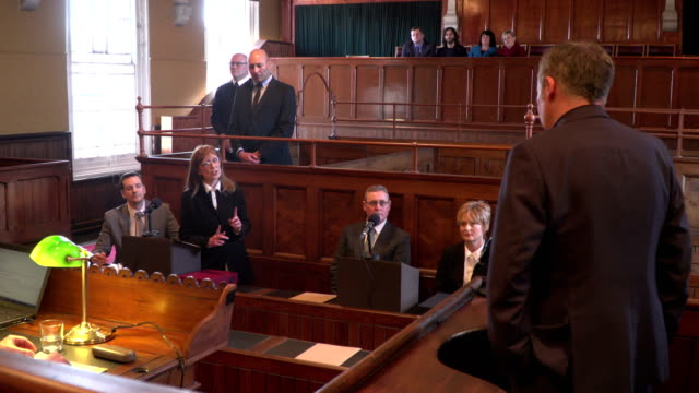 4K: Court case - Barrister / Lawyer questions Witness