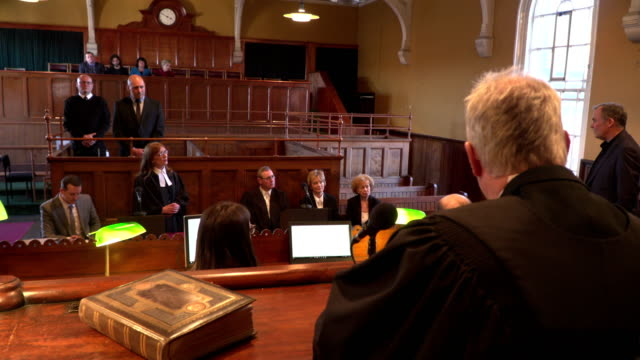4K: Court hearing - Court case with Judge & Lawyer / Barrister