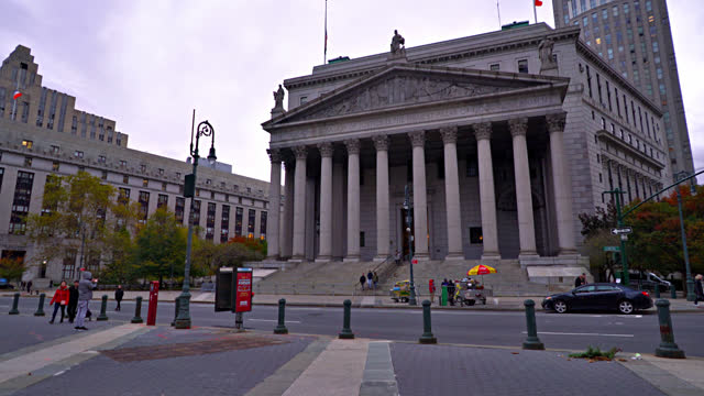 court. new york county - federal building stock videos & royalty-free footage