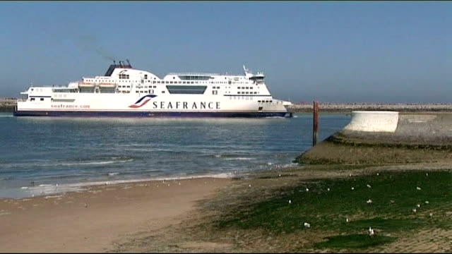 court orders liquidation of ferry company seafrance date location general views seafrance ferry arriving into harbour general views seafrance ferry... - liquidation stock videos and b-roll footage