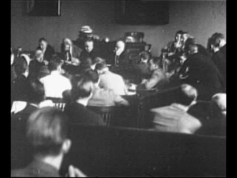 court proceeding regarding responsibility for loss of life aboard ss morro castle / newly promoted capt william warms departs courthouse with... - captain stock videos and b-roll footage