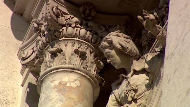 court theatre in vienna - facade decorative elements - architectural column stock videos & royalty-free footage