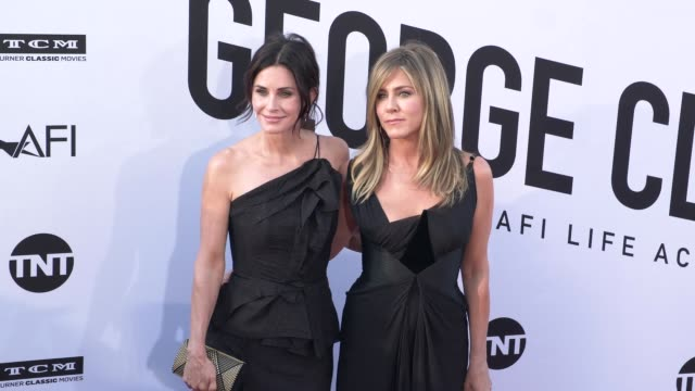 Courteney Cox and Jennifer Aniston at the American Film Institute Honors George Clooney With 46th AFI Life Achievement Award at Dolby Theatre on June...