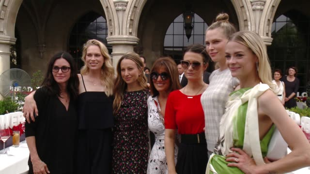 Courteney Cox Erin Foster Jennifer Meyer Shelli Azoff Sara Foster Jaime King at Revlon's Annual Philanthropic Luncheon in Los Angeles CA