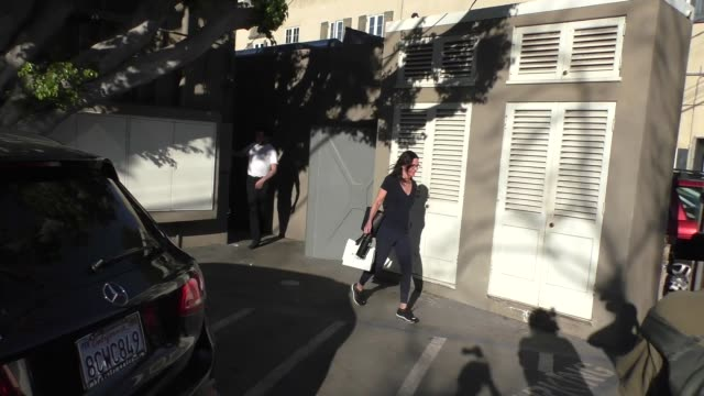 courteney cox leaves melanie grant skincare in west hollywood in celebrity sightings in los angeles, - skin care stock videos & royalty-free footage