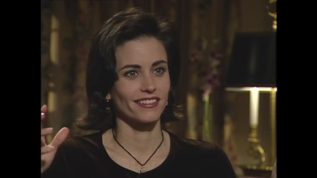 courteney cox on her early acting jobs - soap opera stock videos & royalty-free footage