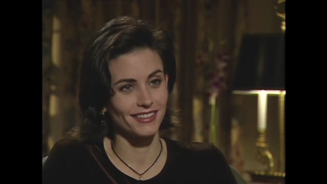courteney cox on her sex scene with jim carrey in 'ace venture pet detective' - popcorn stock videos & royalty-free footage