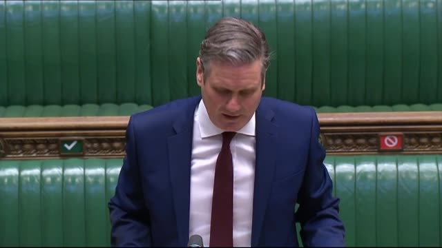 parliament tv prime minister boris johnson returns to house of commons for prime minister's questions, where he faces new labour leader sir keir... - keir starmer stock videos & royalty-free footage