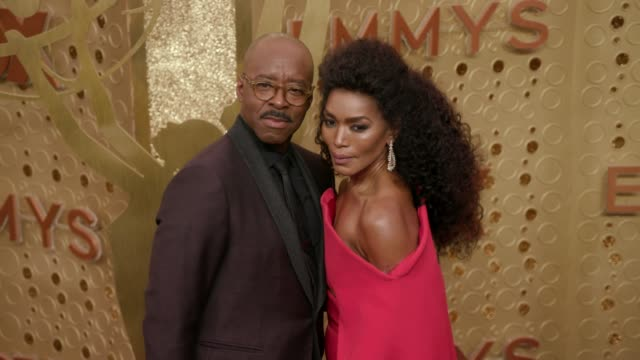 courtney b. vance and angela bassett at the 71st emmy awards - arrivals at microsoft theater on september 22, 2019 in los angeles, california. - angela bassett stock videos & royalty-free footage