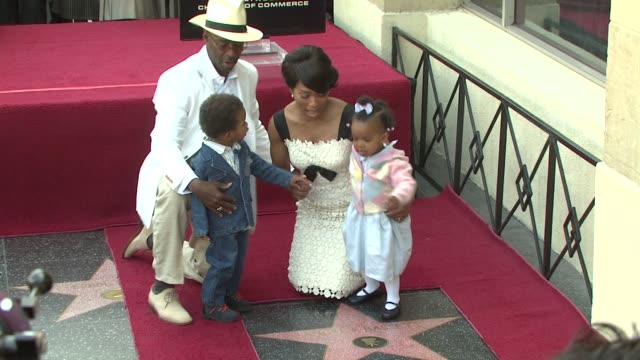 Courtney B Vance Angela Bassett and family at the Dedication of Angela Bassett's Star on March 20 2008