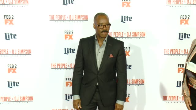 courtney b vance at fx's the people v oj simpson american crime story premiere at westwood village theatre on january 27 2016 in westwood california - westwood village stock-videos und b-roll-filmmaterial