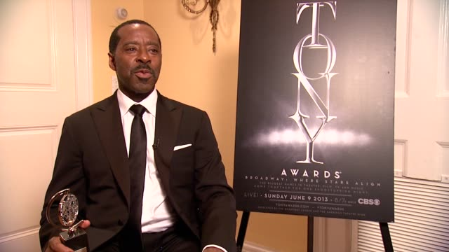 INTERVIEW Courtney B Vance on working with TOm Hanks and giving credit to his queen Angela Bassett at The 67th Annual Tony Awards Arrivals at Radio...