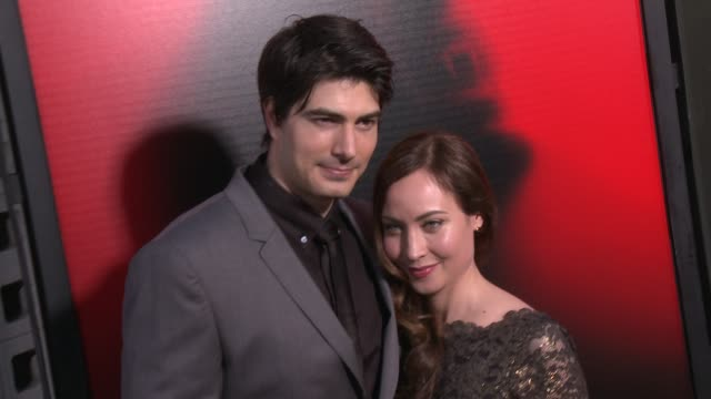 courtney ford brandon routh at premiere of hbo's true blood season 6 on 6/11/2013 in hollywood ca - brandon routh bildbanksvideor och videomaterial från bakom kulisserna