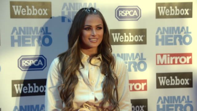 courtney green at the animal hero awards 2018 in partnership with webbox and rspca at on september 6 2018 in london england - rspca stock-videos und b-roll-filmmaterial