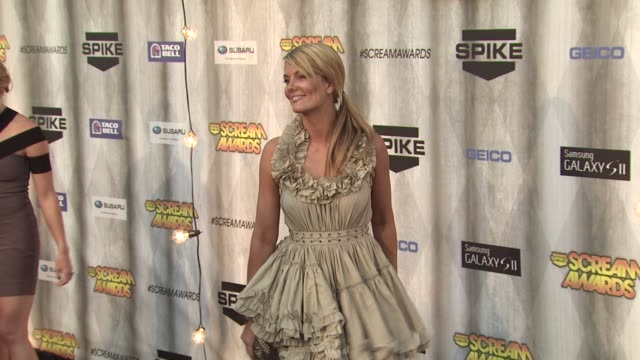 courtney hansen at the spike tv's 'scream awards at universal city ca - universal city stock videos & royalty-free footage