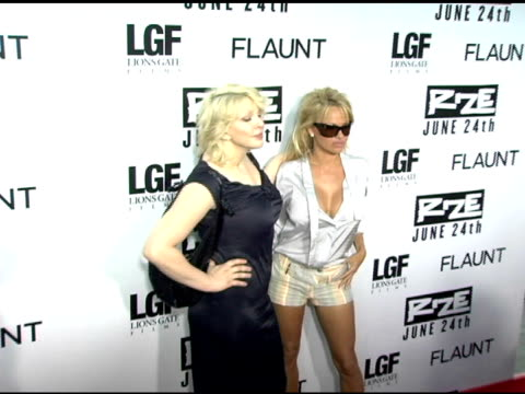 Courtney Love and Pamela Anderson at the 'Rize' Los Angeles Premiere at the Egyptian Theatre in Hollywood California on June 21 2005