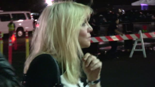 Courtney Love arrive to the JayZ Beyonce On The Run Tour at Pasadena in Celebrity Sightings in Los Angeles