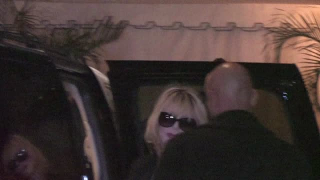 Courtney Love arrives at Chateau Marmont in West Hollywood