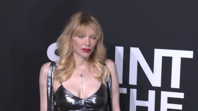 Courtney Love at Saint Laurent Event at Hollywood Palladium on February 10 2016 in Los Angeles California