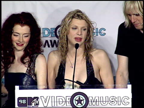 Courtney Love at the 1998 MTV Video Music Awards press room at Universal Amphitheatre in Universal City California on September 10 1998