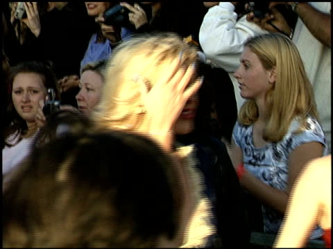 Courtney Love at the 1999 MTV Movie Awards entrances at Barker Hanger in Santa Monica California on June 5 1999