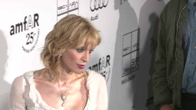 Courtney Love at the 2nd Annual amfAR Inspiration Gala New York Arrivals at New York NY