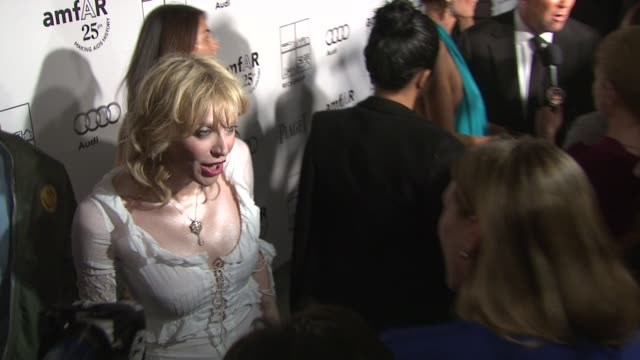 courtney love at the 2nd annual amfar inspiration gala new york arrivals at new york ny - courtney love stock videos & royalty-free footage