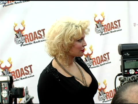 Courtney Love at the Comedy Central's Roast of Pamela Anderson at Sony Studios in Culver City California on August 7 2005