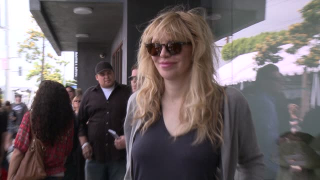 courtney love at the john varvatos 11th annual stuart house benefit at john varvatos on april 13 2014 in los angeles california - courtney love stock videos & royalty-free footage