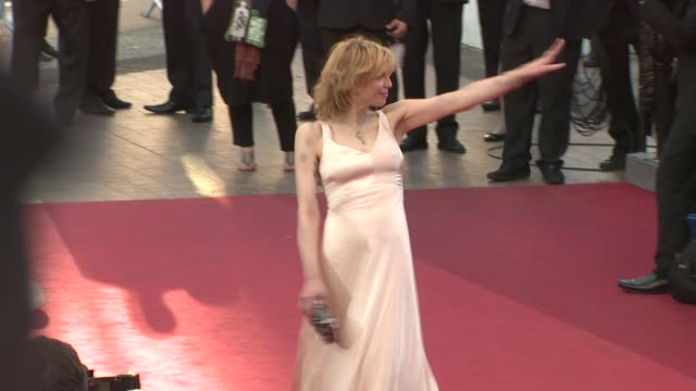 stockvideo's en b-roll-footage met courtney love at the 'this must be the place' premiere during the 64th cannes film festival at the this must be the place red carpet arrivals 64th... - courtney love