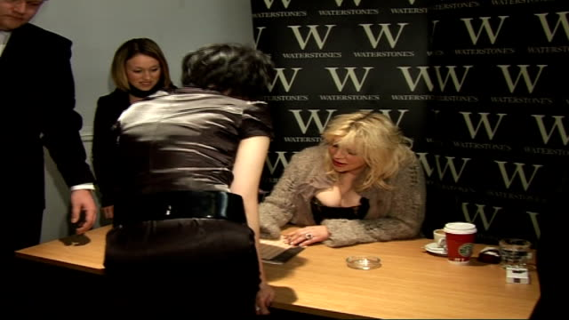 Courtney Love book signing and interview more of book signing