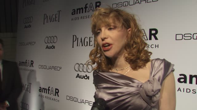 Courtney Love on the event at the amfAR's Inspiration Gala Los Angeles at Los Angeles CA