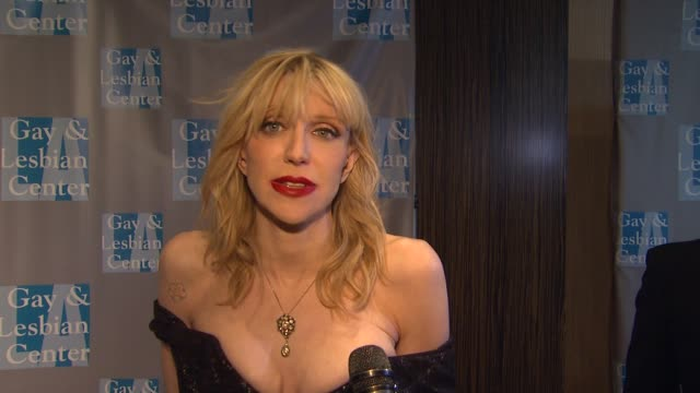 Courtney Love on tonight's event at LA Gay Lesbian Center's An Evening With Women on 5/19/12 in Los Angeles CA