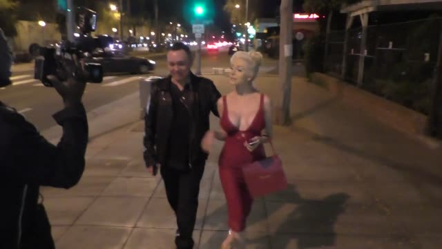 INTERVIEW Courtney Stodden Doug Hutchison talk about PETA as they leave Dan Tana's Restaurant in West Hollywood at Celebrity Sightings in Los Angeles...