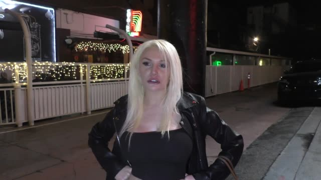 interview courtney stodden talks about being kicked out of the rainbow room after making a coronavirus joke in west hollywood in celebrity sightings... - west hollywood california stock videos & royalty-free footage