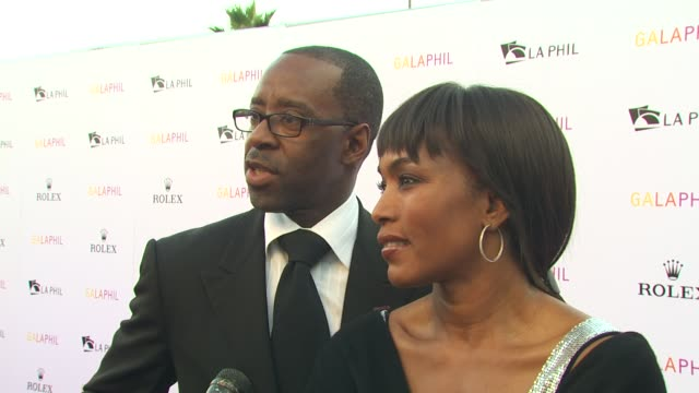 courtney vance , angela bassett at the inaugural gala for the los angeles philharmonic at los angeles ca. - angela bassett stock videos & royalty-free footage