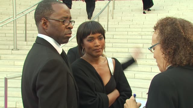 Courtney Vance Angela Bassett at the Inaugural Gala for the Los Angeles Philharmonic at Los Angeles CA