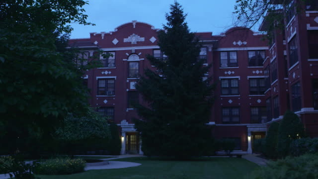WS Courtyard apartment night
