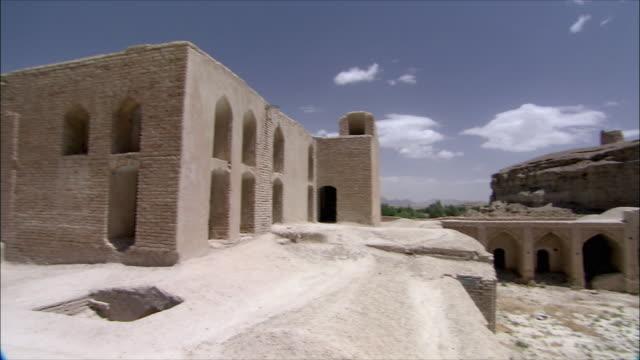ws ha pan courtyard of caravanserai, iran - inn stock videos & royalty-free footage