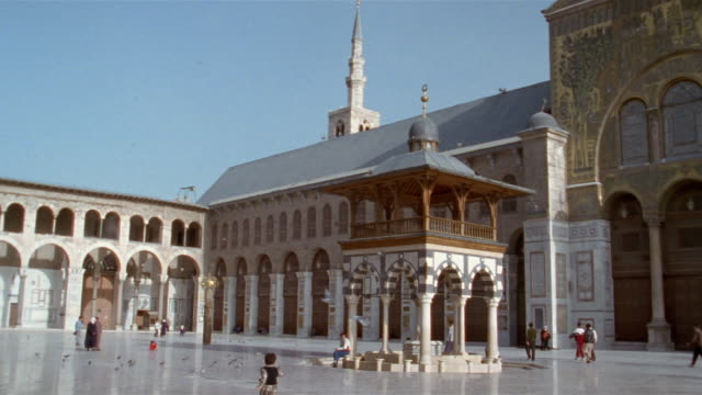 MS, courtyard of Grand Mosque of Damascus, Damascus, Syria
