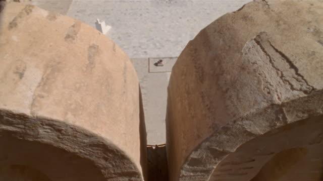 cu, tu, ws, courtyard of mosque of uqba, kairuan, tunisia - monument stock videos & royalty-free footage