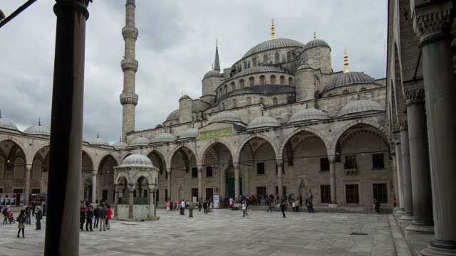 t/l zo courtyard of the blue mosque in istanbul, turkey - westernisation stock videos & royalty-free footage