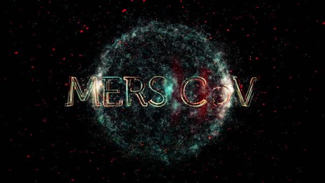 mers cov virus title animation - disease vector stock videos & royalty-free footage