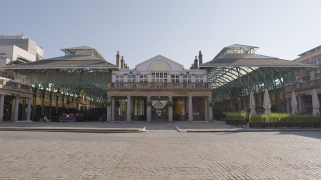 covent garden - empty london in lockdown during coronavirus pandemic - film moving image stock videos & royalty-free footage